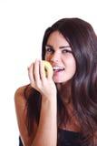 Essen Sie Apfel Stockfoto