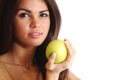 Essen Sie Apfel Stockbild
