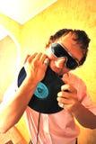 Essen Sie das Vinyl Lizenzfreies Stockfoto