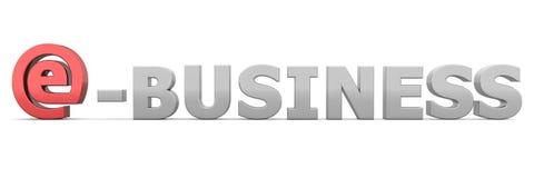 ESSEN Sie e-Business - Grau und Rot Lizenzfreie Stockbilder