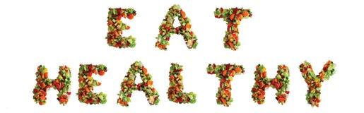 Essen Sie gesundes Lizenzfreie Stockfotografie
