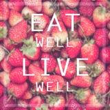 Essen Sie gut Livebrunnen stockfoto