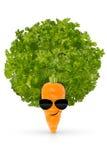 Essen Sie Ihr organisches Gemüse und seien Sie kühl lizenzfreie stockbilder