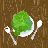 Essen Sie Ihre Grüns lizenzfreie abbildung