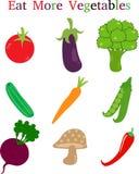 Essen Sie mehr Gemüse Lizenzfreie Stockfotos
