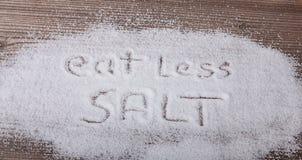 Essen Sie weniger Salz Lizenzfreies Stockfoto