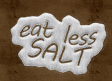 Essen Sie weniger Salz Lizenzfreie Stockbilder