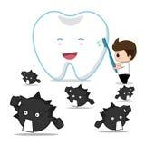 essen Sie Zähne Stockfotografie