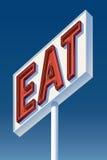 Essen Sie Zeichen lizenzfreie stockfotos