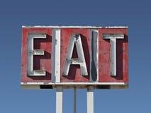 Essen Sie Zeichen-Ruine Stockbilder