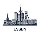 Essen Skyline Emblem Royalty Free Stock Photos