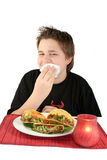 Essen von Tacos Stockfotografie
