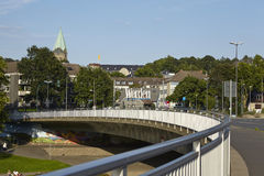 Essen-Werden (Germany) - Bridge over the Ruhr River Royalty Free Stock Image