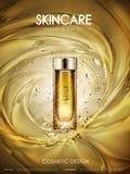 Essence d'or cosmétique Image stock