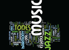 Essence Of Jazz Music Text Background  Word Cloud Concept Stock Images