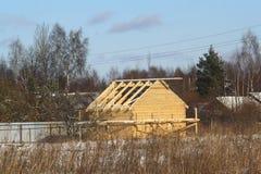Essendo casa costruita del villaggio Immagini Stock Libere da Diritti