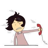 Essendo urlando sul telefono illustrazione vettoriale