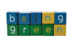 Essendo verde Immagine Stock
