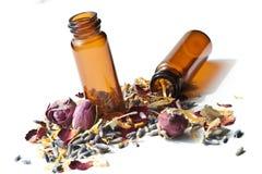 Essentiële oliën Aromatherapy royalty-vrije stock afbeelding