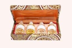 Essentiële Oliën in een giftdoos Royalty-vrije Stock Fotografie