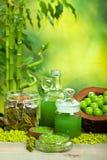 Essentiële oliën en badzout Stock Foto