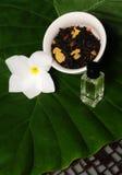 Essentiële oliën en thee Royalty-vrije Stock Foto