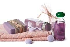 Essentiële olie en kruidenzeep royalty-vrije stock foto's