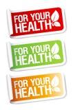 Essentiële stickers. Royalty-vrije Stock Afbeelding