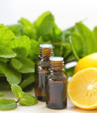 Essential aroma oil Stock Photography