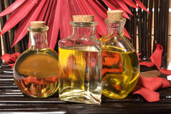 Essential body massage oils Stock Image