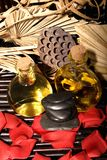 Essential body massage oils Royalty Free Stock Photo