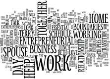 Essential Boundaries For Mom Entrepreneurs And Their Husbands Word Cloud Concept Stock Photos