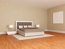 Essential brown  bedroom Stock Image