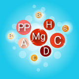 Essential Chemical Elements Nutrient Minerals Vitamins Royalty Free Stock Photo