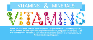 Essential Chemical Elements Nutrient Minerals Vitamins Stock Photography
