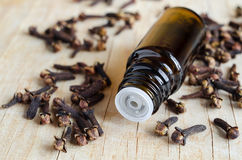 Essential clove oil Royalty Free Stock Images