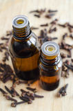 Essential clove oil Royalty Free Stock Image