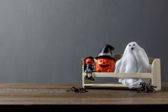 Essential decorations accessory of Happy Halloween festival concept background Royalty Free Stock Images