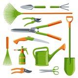 Essential gardening tools vector Royalty Free Stock Photos