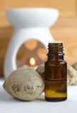 Essential ginger oil Stock Photography