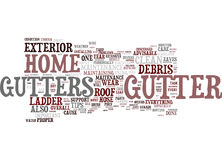 Essential Gutter Maitenance Tips Word Cloud Concept Stock Image