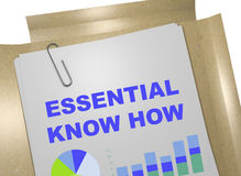 Essential Know How - business concept Royalty Free Stock Image