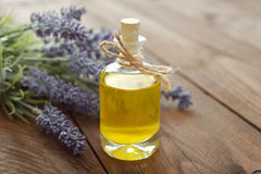 Essential lavender oil Stock Photo