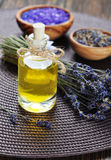 Essential lavender oil Stock Photography