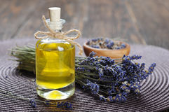 Essential lavender oil Stock Image