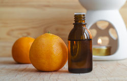 Essential mandarin oil Stock Photography