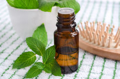 Essential mint oil Royalty Free Stock Photo