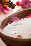Essential oil for aromatherapy Stock Image