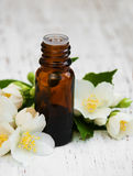 Essential oil with jasmine flower Stock Photography