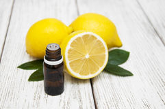 Essential oil of lemon royalty free stock photos